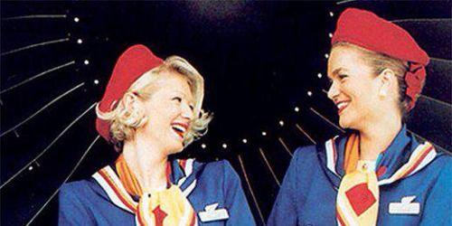 The Sloane on the Throne - Old Britannia Airways uniform.