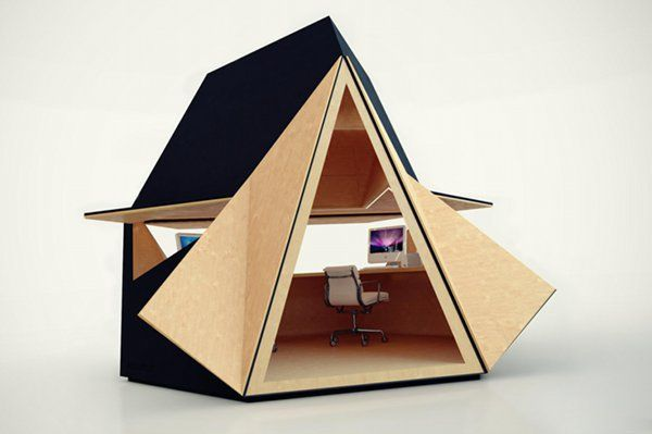 Figuring out how to build one of these for the office.: Modern Gardens, Gardens Offices, Tetra Sh, Offices Spaces, Sheds, Architecture, Design, Home Offices, Backyard Offices