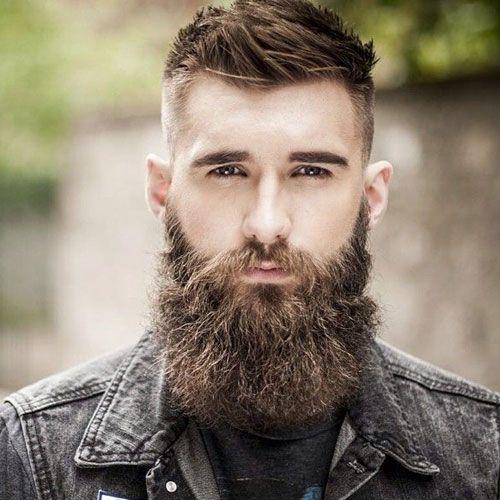 Full Beard + Fade + Short Textured Top