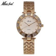 US $15.97 Miss Fox Women Watch Luxury Brand Fashion Casual Ladies Gold Watch Quartz Simple Clock Relogio Feminino Reloj Mujer Montre Femme. Aliexpress product