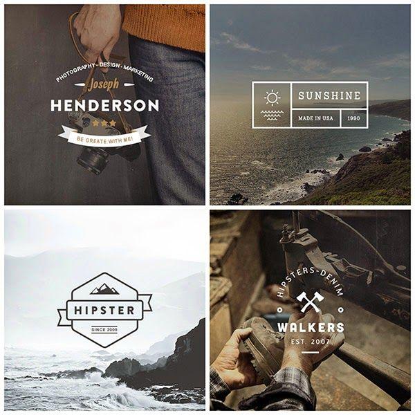 Free PSD Templates - Hipster Logos