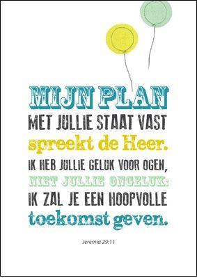 Productafbeelding Poster Enjoy - Mijn plan met jullie staat vast - mooi om in te lijsten 6,95