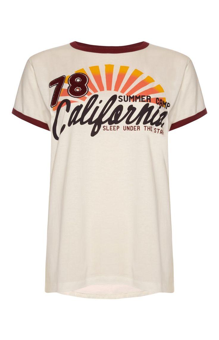 California Camping Ringer T-Shirt