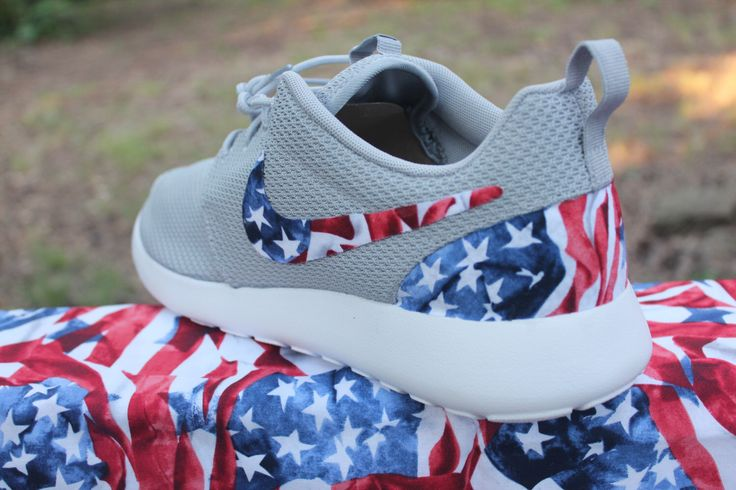 Nike Roshe Run American Flag by GrabbKicks on Etsy https://www.etsy.com/listing/235984706/nike-roshe-run-american-flag