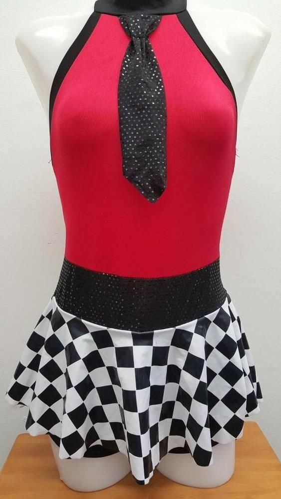 eBay #Sponsored Dance Costume Small Adult Red Checker Jazz Tap