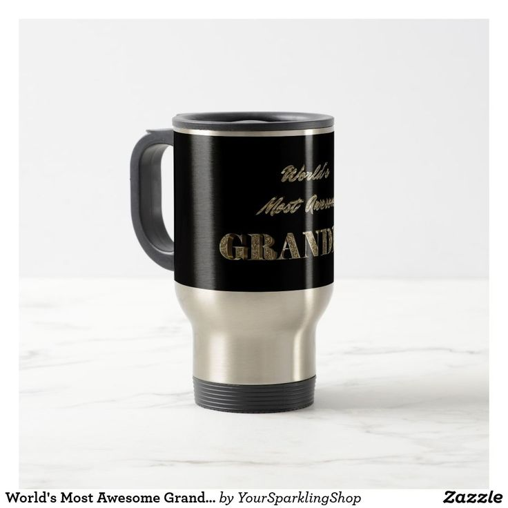 World's Most Awesome #Grandpa Gold Look  Typography Travel #Mug  #JustSold #ThankYou :)