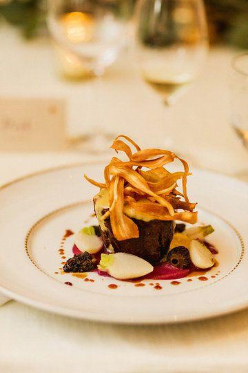Nicola Valley Bison Tenderloin | morels, port braised cabbage, baby turnips, root crisps, marrow'naise' |