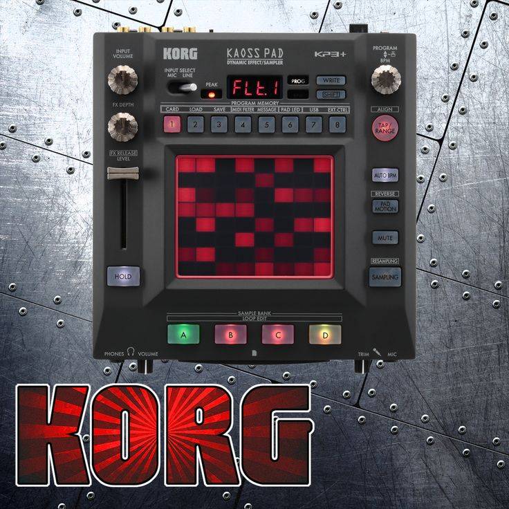 Korg KP3 Plus Kaoss Pad Dynamic Effects Sampler --- Featuring 150 effects for your sonic pleasure!  Use the touchpad to manipluate any sound you send through the Kaoss Pad.  #Korg #KorgDJ #DJ #Sampler #KaossPad #Kaoss #AmericanMusical #AmericanMusicalSupply