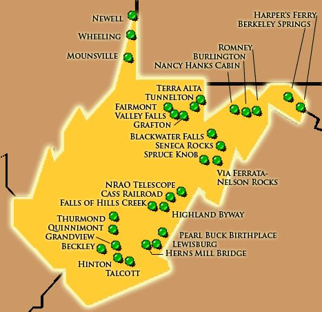 West Virginia Attractions