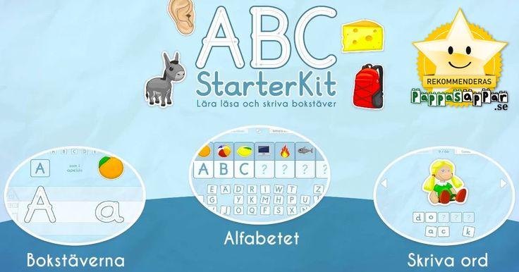 ✔ 3-6 år ✔ iPhone ✔ iPad ✔ Android ABC StarterKit Svenska är inriktad mot barn som har börjat intressera sig för bokstäver och hur de låter. Spelet innehåller möjlighet att öva på att forma bokstäver, hitta rätt begynnelsebokstäver, matcha gemener med versaler samt att skriva ord. Det finns flera svårighetsnivåer. Svenskt tal.