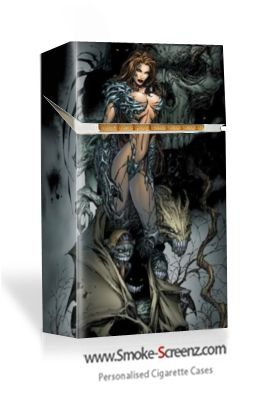 Fantasy design cigarette pack cover from Smoke Screenz