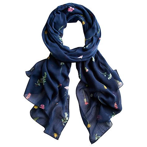 Buy Joules Wensley French Scarf, Navy Online at johnlewis.com