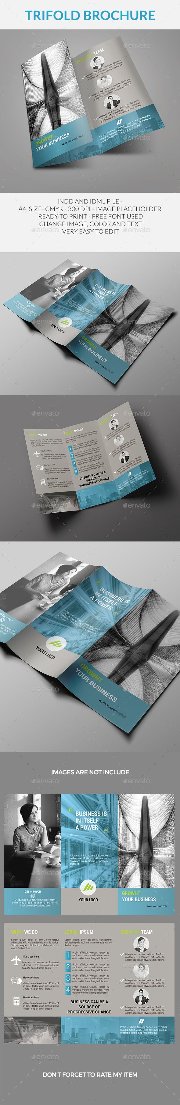 Trifold Brochure Template InDesign INDD. Download here: http://graphicriver.net/item/trifold-brochure/15426566?ref=ksioks
