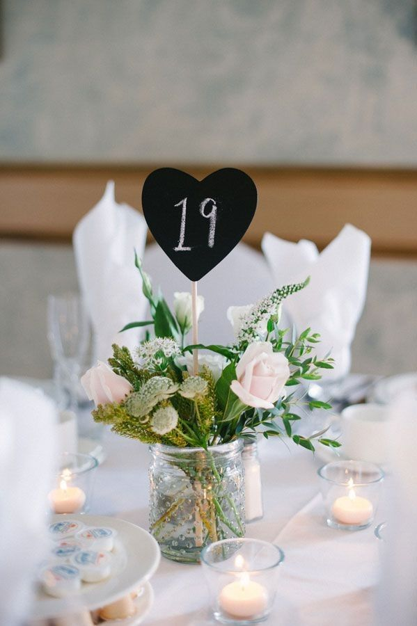 Chalkboard Table Number Outdoor Wedding Mason Jars Decor