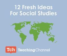 SocialStudies-12 Fresh Ideas for Social studies When it comes to lesson planning…