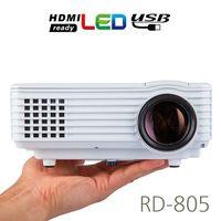 2017 RD805 Mini LED Projector 800 Lumens 1000:1 800x480pixels Micro HDMI USB Home Cinema Proyector Beamer