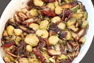 Roasted Brussels Sprouts with Dates