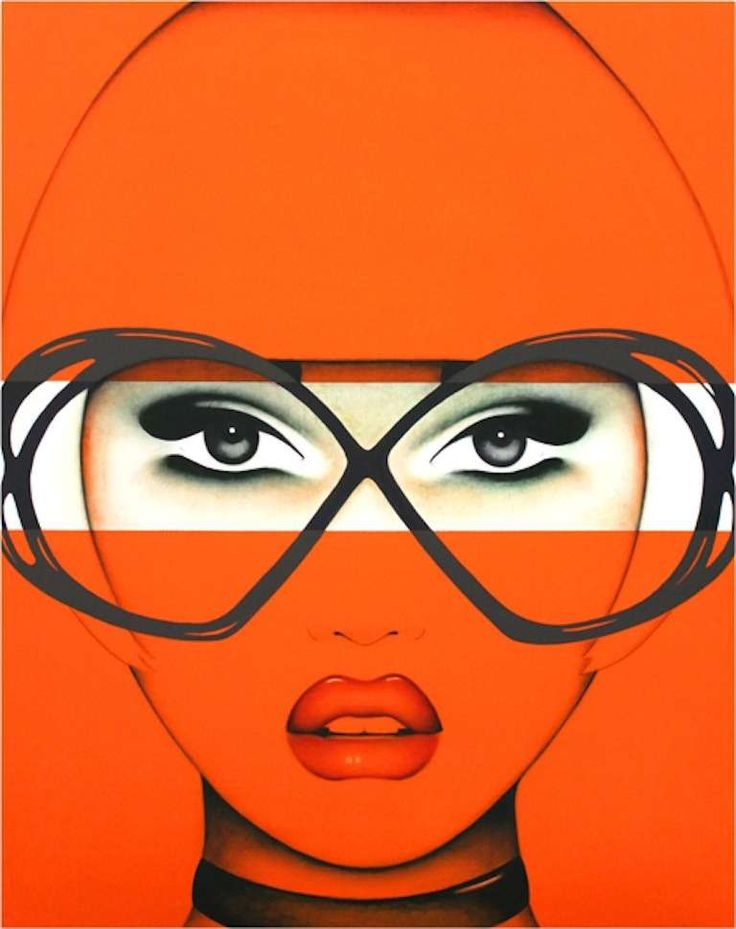 For Your Eyes Only: Orange | From a unique collection of paintings at https://www.1stdibs.com/art/paintings/