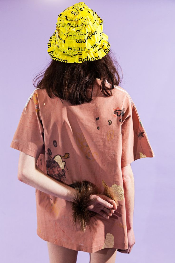 Centre for Style - Rare Candy painted cotton short sleeve t-shirt with marker and gold leaf detail