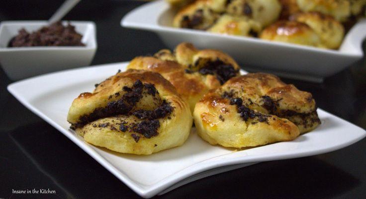 Insane in the Kitchen: Herzhafte Teigschnecken mit Oliven-Knoblauchpaste ...