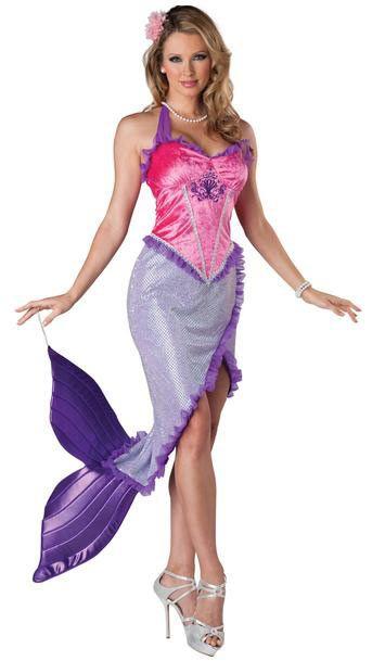 Disfraz chica La Sirenita, sexy. Disney  Conviértete en Ariel, la Sirenita de la película del mismo nombre de Disney con este precioso Disfraz.