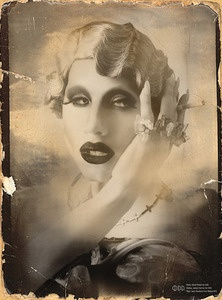 SHARON NEEDLES ANTIQUE POSTER *Limited Release/Signed*Beards, Drag Queens, Drag Racing, Marilyn Manson, Ziggy Stardust, Beautiful, Sharon Needles, Rupaul Drag, Antiques Posters