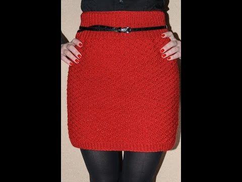 Как связать юбку | вязанная одежда юбки | Постила
