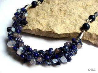 korallkata ékszerek: Kék ásványos