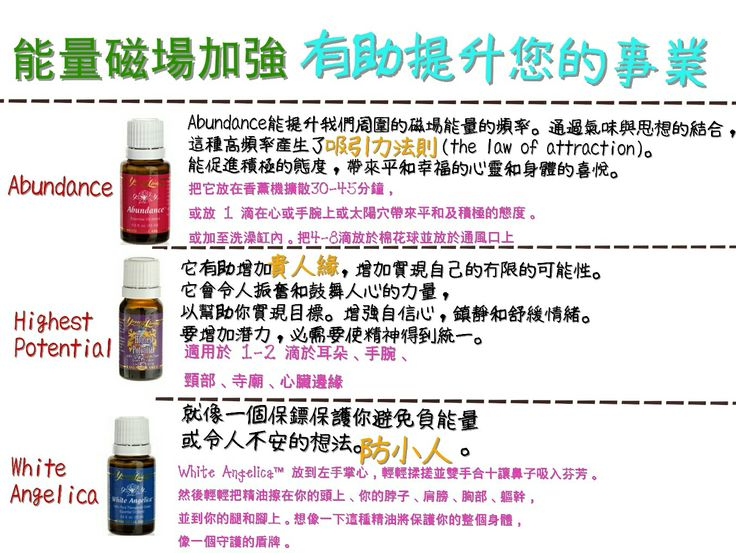 Young Living 精油 Young Living Abundance 精油 Young Living Highest Potential 精油 Young Living White Angelica 精油