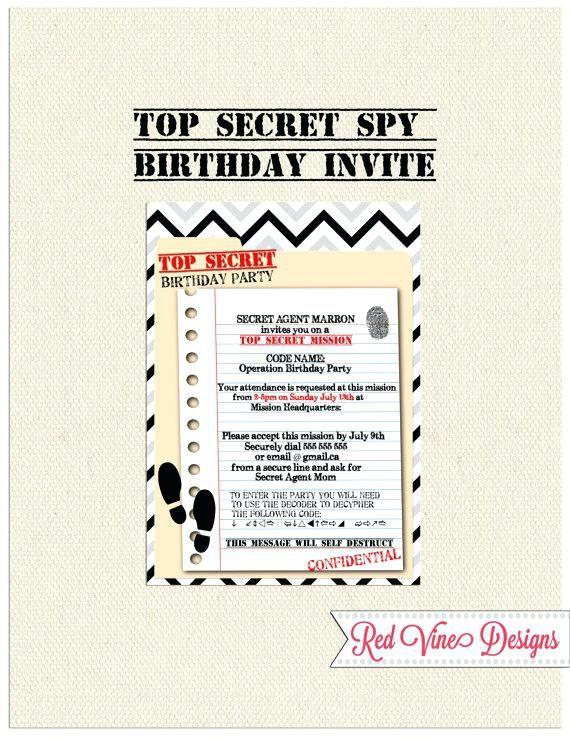 Invitation Anniversaire Espion Carton Invitation