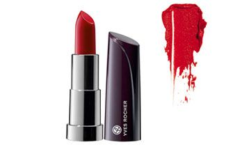 One of the key products for the Flirty Glamour Look, the crucial Moisturizing Red Lipstick from Yves Rocher!