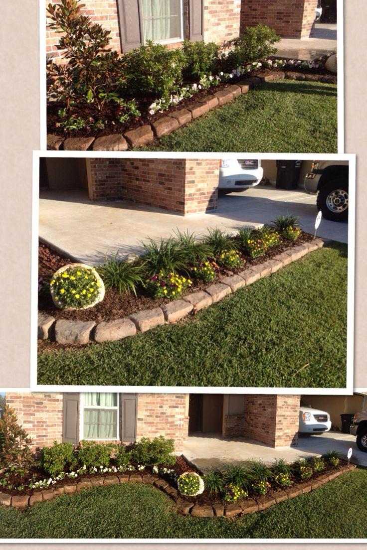 simple front flower bed design flower gardening outdoors rh pinterest com