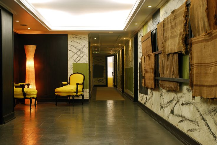 Designed with an european and native concept of Andean looms, brushstrokes, slate stone on the floors and rustic rugs by the chilean national architect Germán del Sol. #architecture #design #rustic #decoration #art #hotel #travel #native #german #delsol