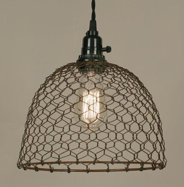 Chicken Wire Dome Pendant Light
