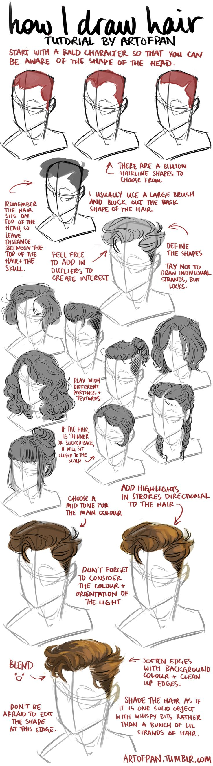 62 best Learn Drawing Hair images on Pinterest