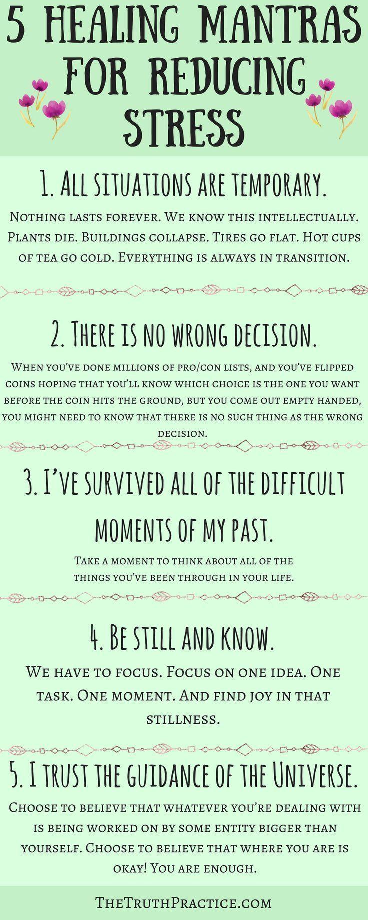 KLICKEN SIE AUF DIE PIN, UM ALLE 10 heilenden Mantras und Affirmationen zur Reduzierung von Stres