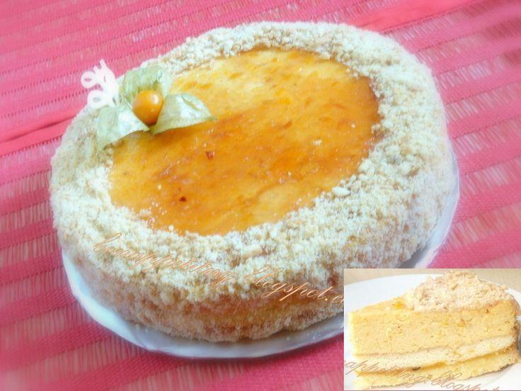dyniowy/marchewkowy  (ciasto kruche, marmolada brzoskwiniowa/pomarańczowa, ciasto biszkoptowe,   dyniowa/marchewkowa masa serowa)