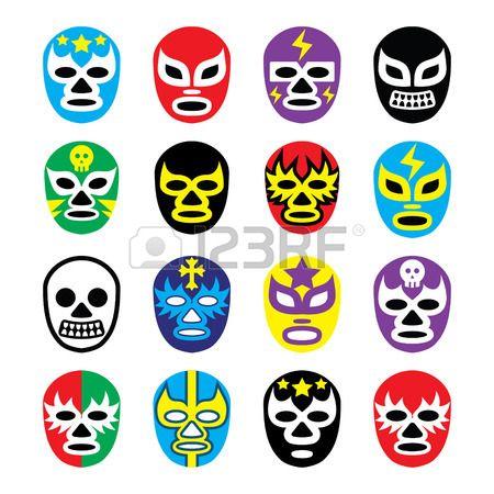 ルチャ リブレ メキシコ レスリング マスク アイコン