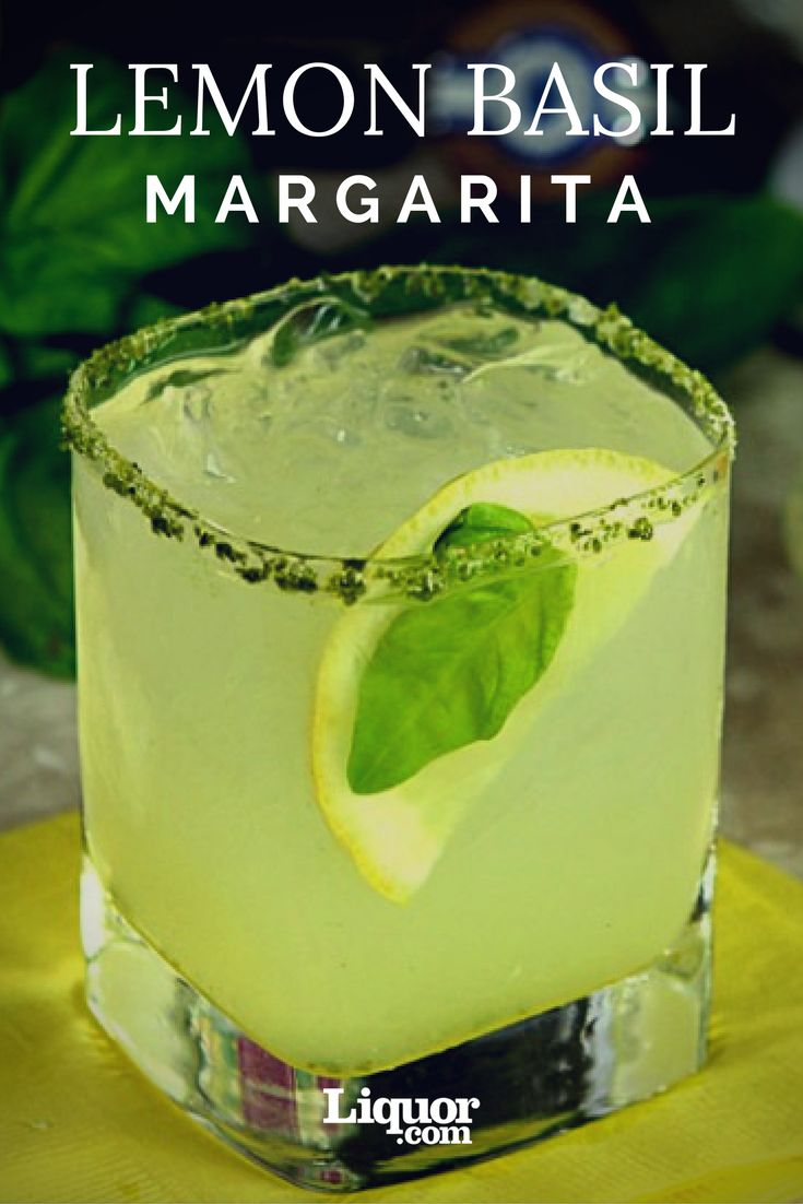 Tequila Time! The Fresh Lemon Basil Margarita! You'll love this herbal variation on your favorite tequila cocktail.