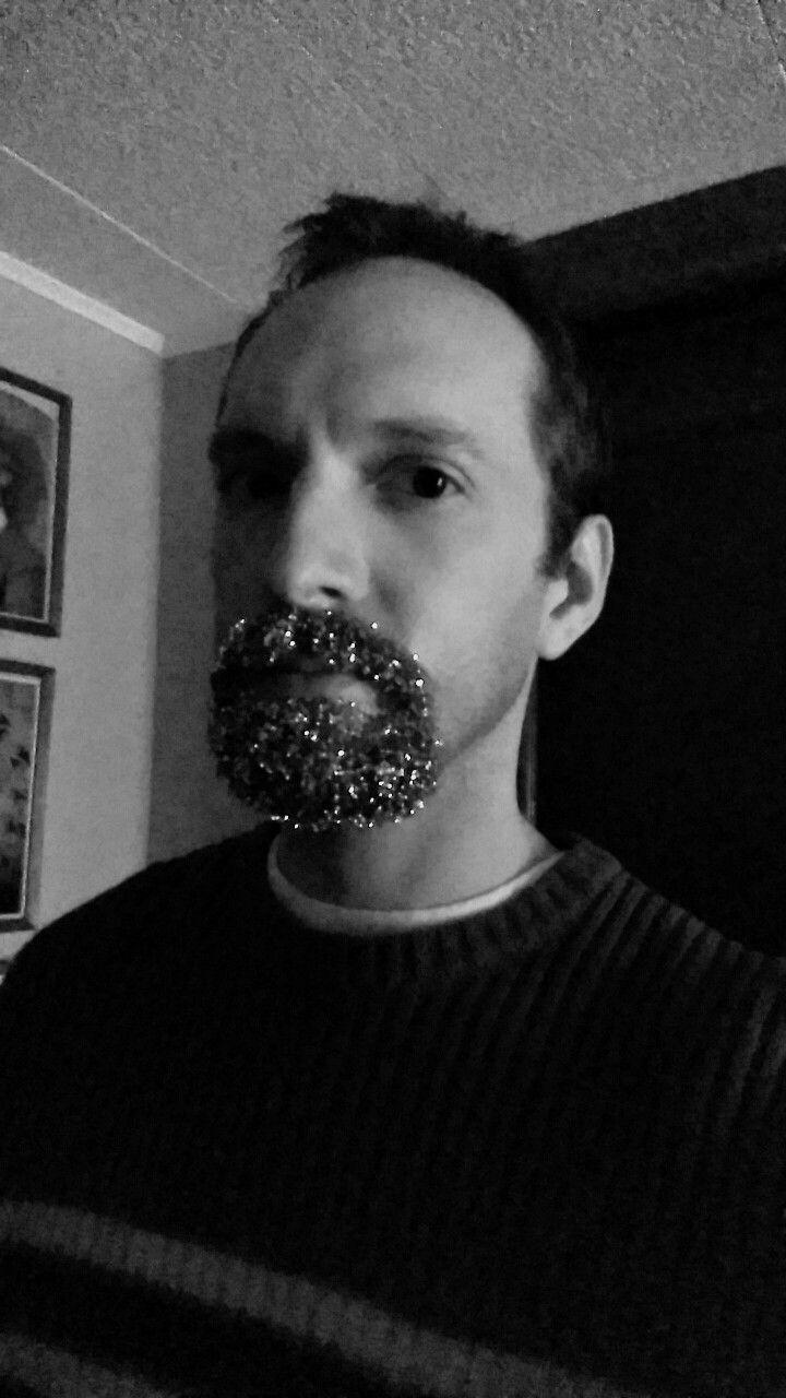 Glitter goatee ! Beard