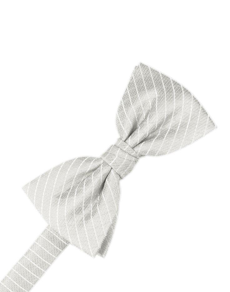 Platinum Diamond Grid Pattern Formal Bow Tie