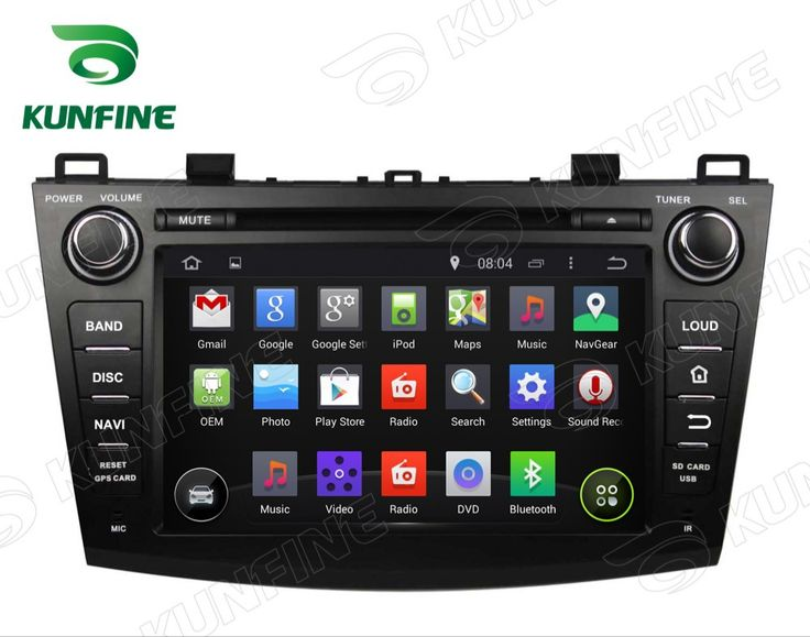 Quad Core 1024*600 Android 5.1 Car DVD GPS Navigation Player for Mazda 3 2009 2012 Radio Bluetooth steering wheel control Remote
