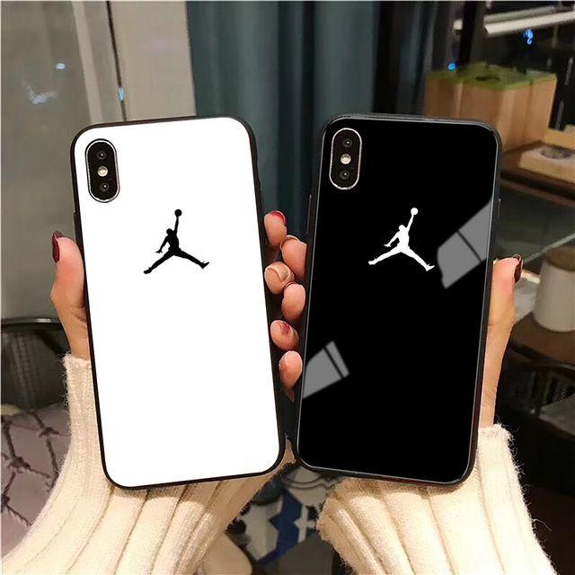 Flyman Air 23 Jordan Glass Case for iPhone X Xs Max Xr 8 7 6 6s ...