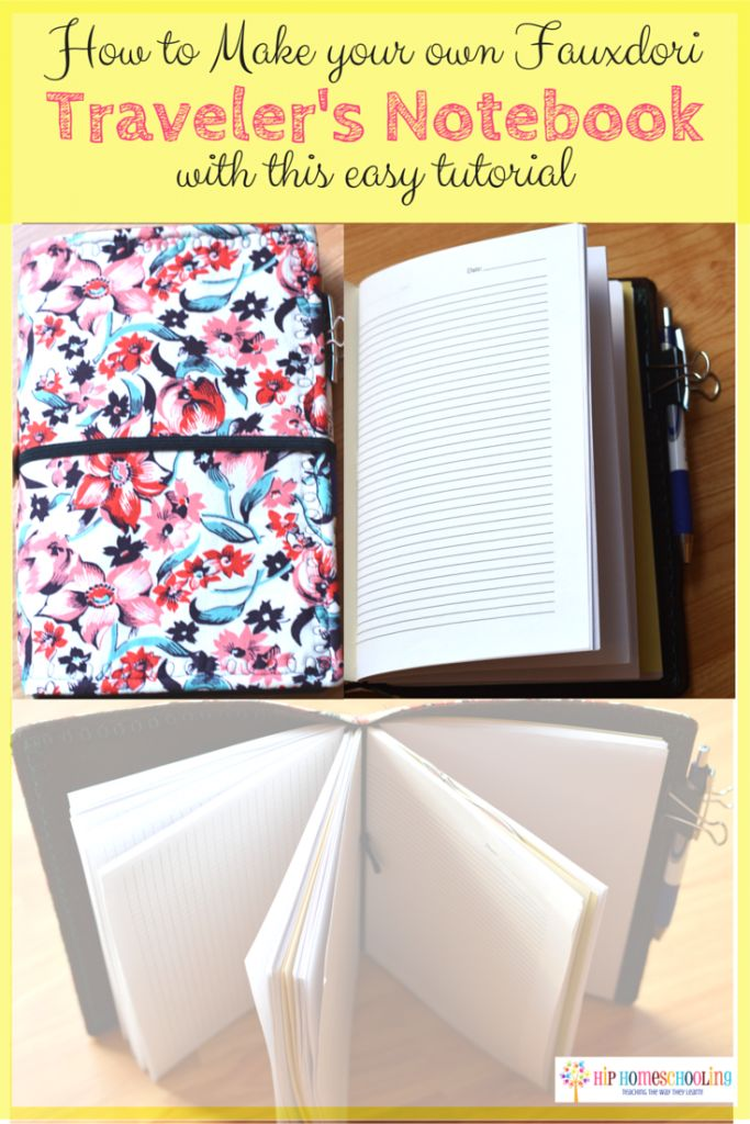 How to Make your own Fauxdori Traveler's Notebook for your kids with this Easy Tutorial! (try this for crafting/sewing journal?)