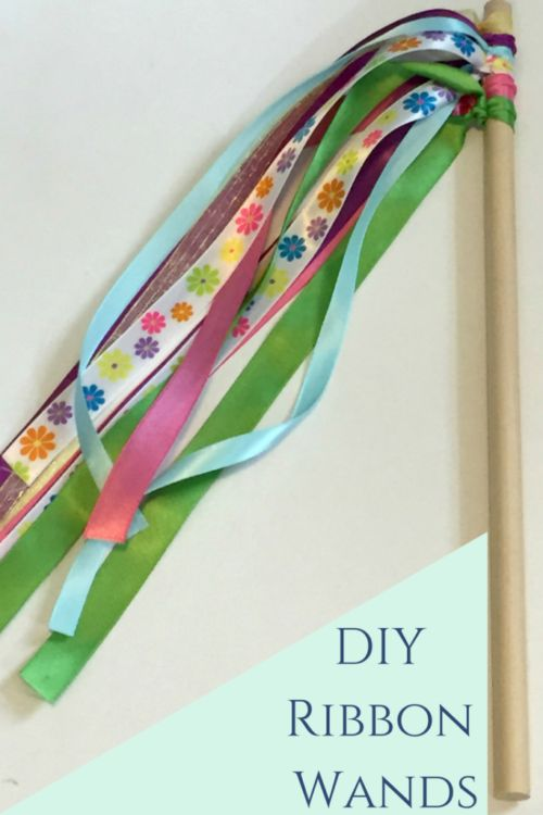 DIY Ribbon Wand- super simple to make. Perfect for princess loving littles.