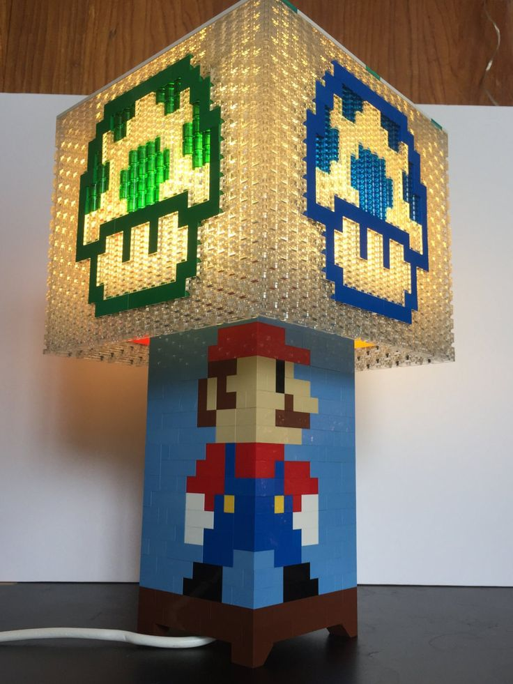 Lámpara de LEGO Power-Up de Mario Brothers