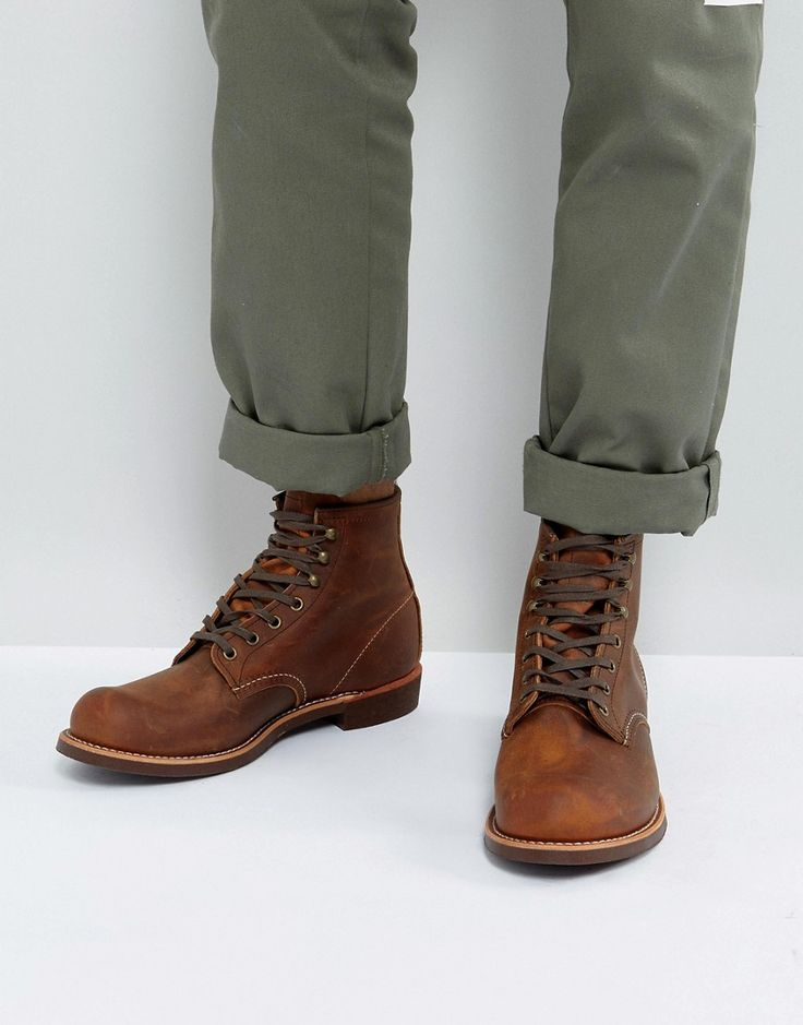 Get this Red Wing's cowboy boots now! Click for more details. Worldwide shipping. Red Wing Blacksmith Leather Lace Up Boots In Copper - Brown: Boots by Red Wing, Leather upper, Lace-up fastening, Contrast stitching, Grip tread, Treat with a leather protector, 100% Real Leather Upper. Founding the Red Wing shoe company in 1905, Charles Beckman produced purpose-built work boots tough enough for the factory floor or construction site. Retaining the same Red Wing durability and quality…