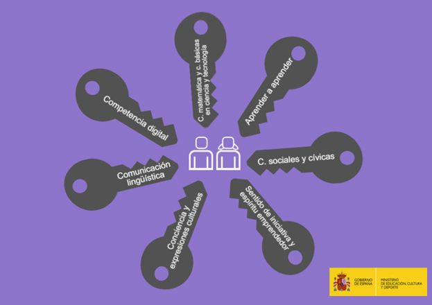 Recopilamos siete infografías creadas por el Centro Nacional de Innovación e Investigación Educativa para explicar las siete competencias clave de la LOMCE.