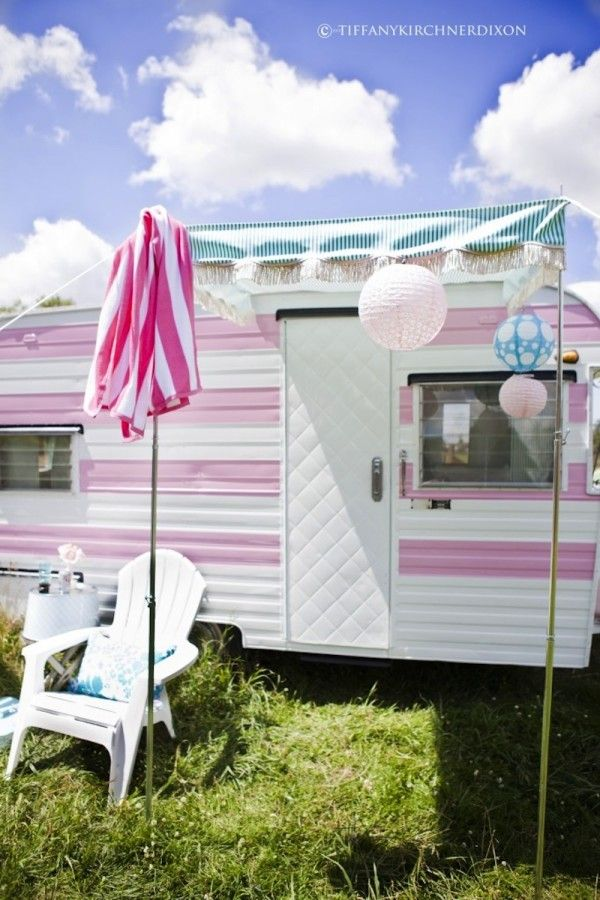 Best Glamping Camping Glamour Style Images On Pinterest - Old shabby trailer gets one hell makeover