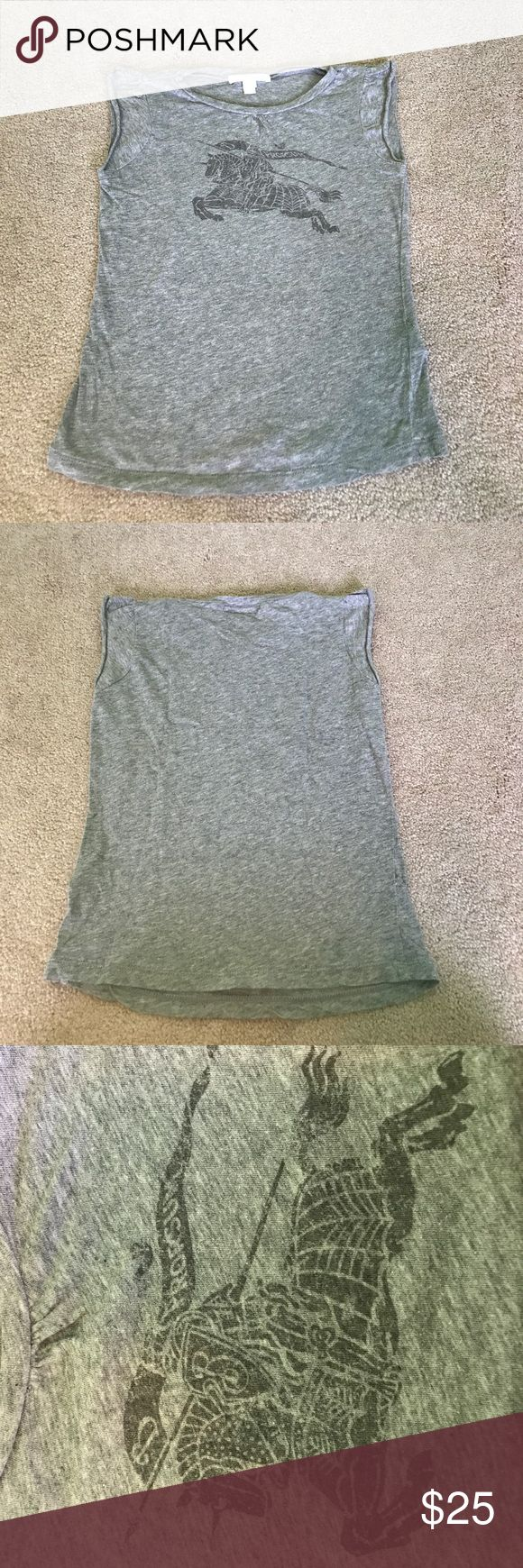 Kids Burberry t-shirt A gray girls  t-shirt. Size 6 Burberry Shirts & Tops Tees - Short Sleeve